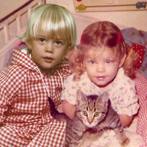 How cute is this?! (Instagram) - photoshopped photo of Josh Duhamel & Fergie when they were babies.