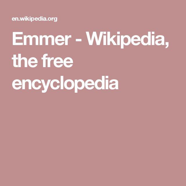 Emmer - Wikipedia, the free encyclopedia