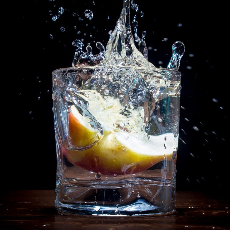 Half apple in water by Paul Istoan, via 500px