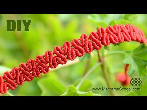 DIY Heart patterned macramé bracelet [Tutorial] - YouTube