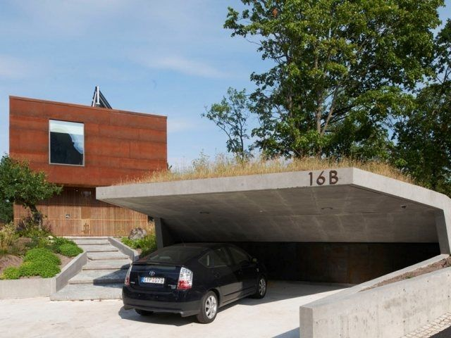 Garage mit carport modern  12 best carports images on Pinterest | Carport designs, Modern ...