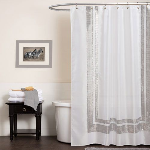 20 Best White Shower Curtains Images On Pinterest Bathroom Ideas Shower Curtains And White Shower