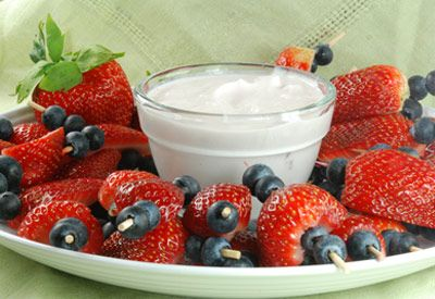 Rays Food Place - Recipe: Berry Kabobs with Yogurt
