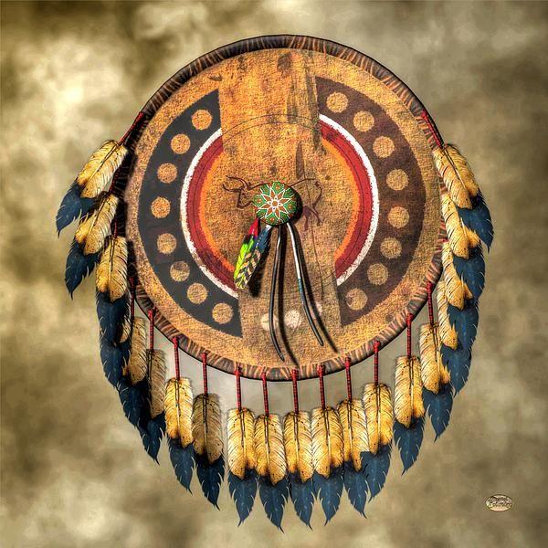 """""""Native American Shield""""  The medicine shield #nativeamerican #art"""