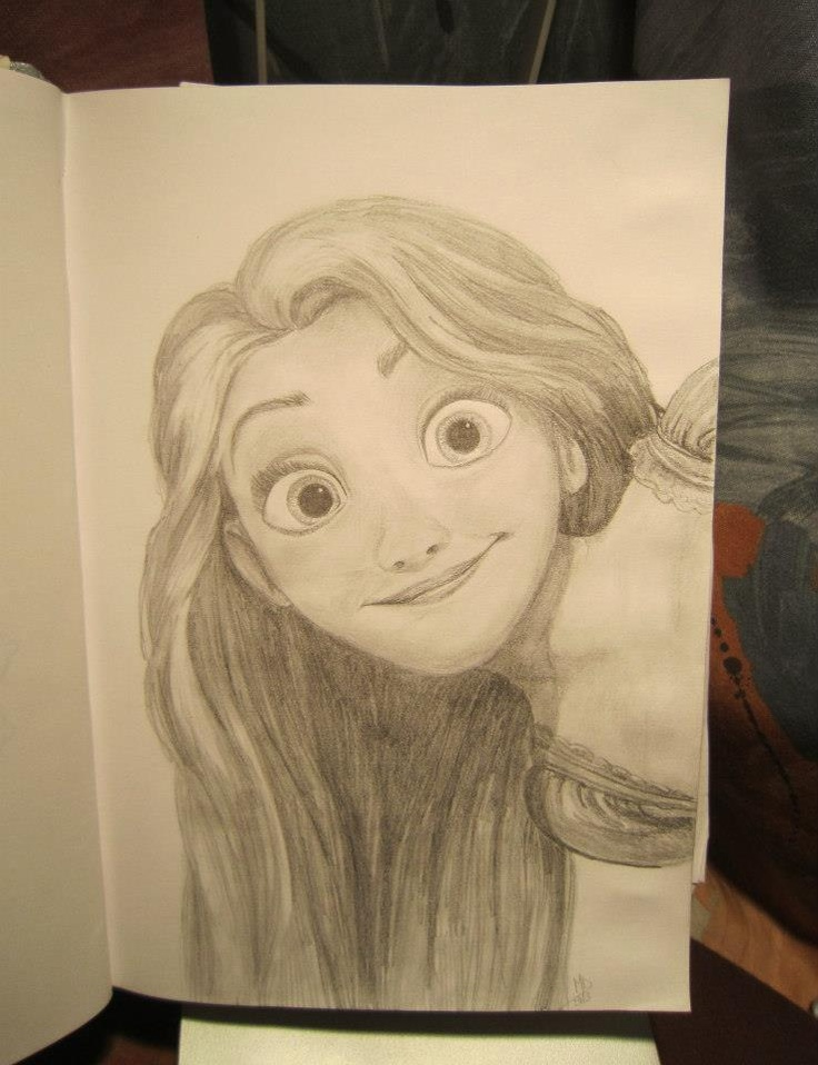 Rapunzel - pencil drawing