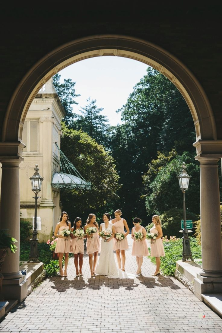 Photography: Readyluck - http://www.stylemepretty.com/portfolio/readyluck Wedding Dress: L'Fay Bridal - www.lfay.com/nj-chatham   Read More on SMP: http://www.stylemepretty.com/2015/11/24/romantic-evergreen-museum-and-library-wedding/