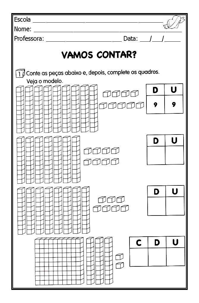 Alfabetizar com AMOR: TRABALHANDO COM MATERIAL DOURADO - 1º ANO