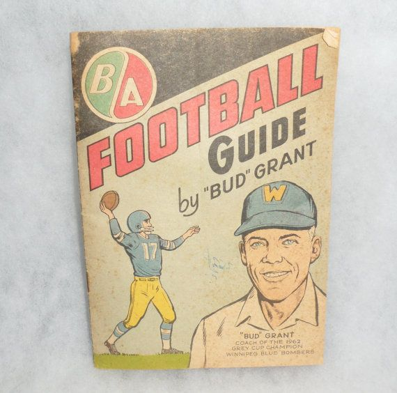 RARE 1963 FOOTBALL GUIDE / Bud Grant / Advertisement by BYGONERA, $35.00