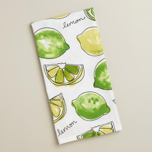 Lemon Lime Kitchen Towel