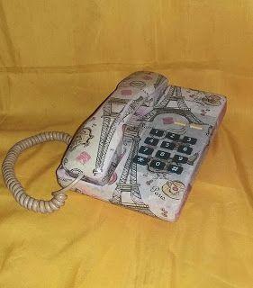 Cantik Artshop: Telephone decoupage