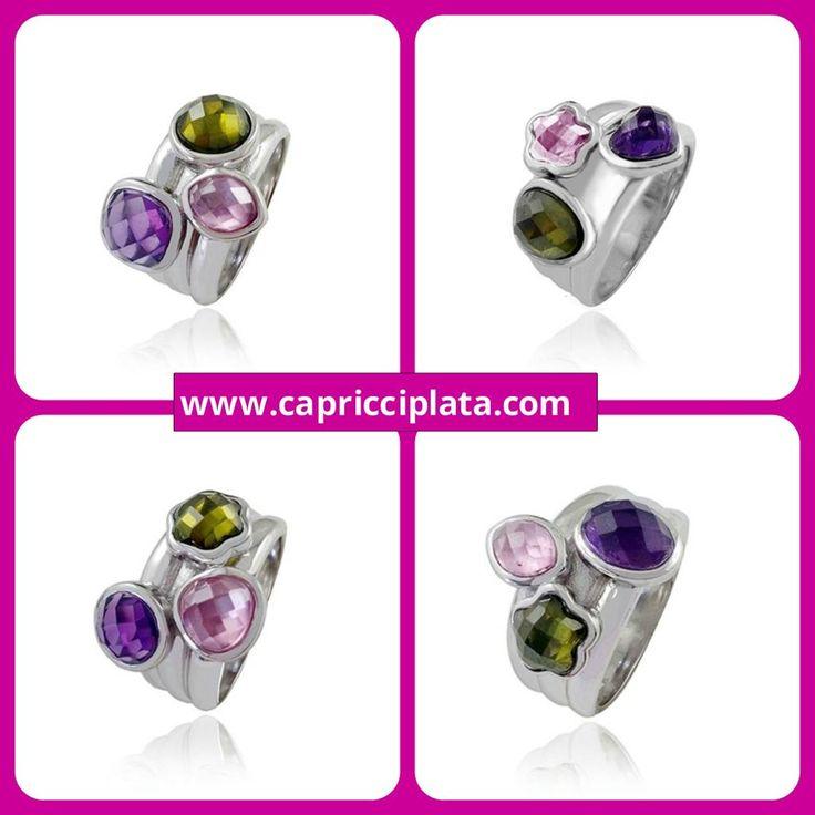ANILLOS DE PLATA 925M Los puedes encontrar en: www.capricciplata.com www.facebook.com/capricci.plata1