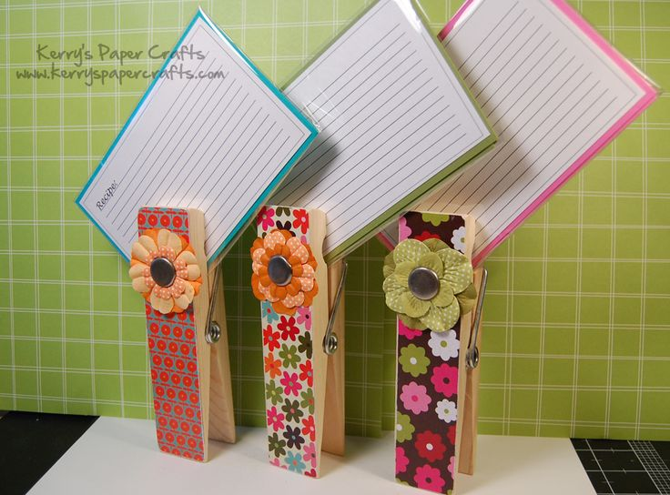 such an easy and cute idea to use as a recipe card holder or even, maybe, as a photo holder.