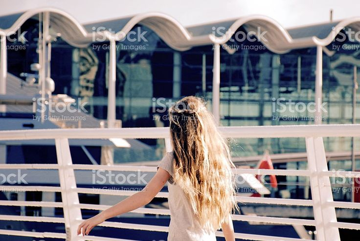 Carefree Young Girl walks away from Camera royalty-free stock photo