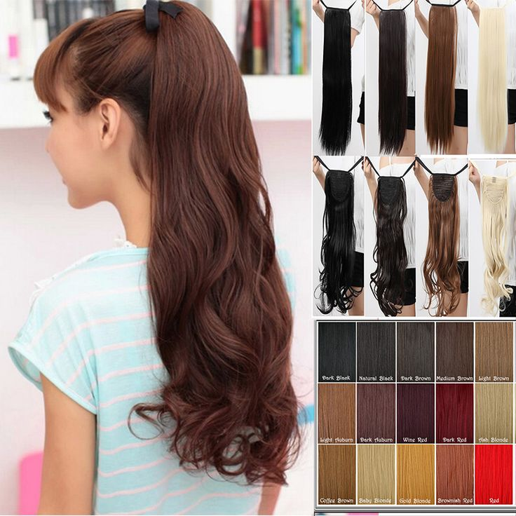 Real Thick Drawstring Ponytail Clip in Hair Extension Curly women hair extensions pony tails 28