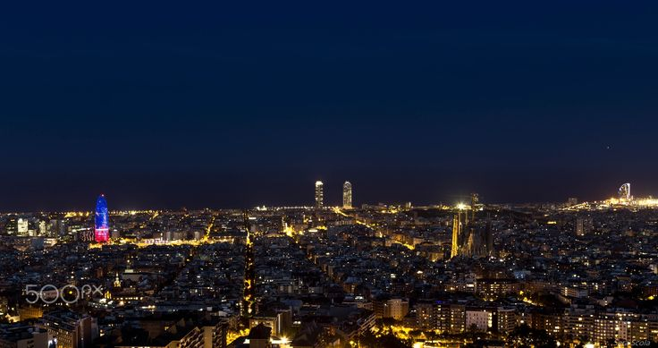 BCN Style - Barcelona at night from Bunkers el Carmel