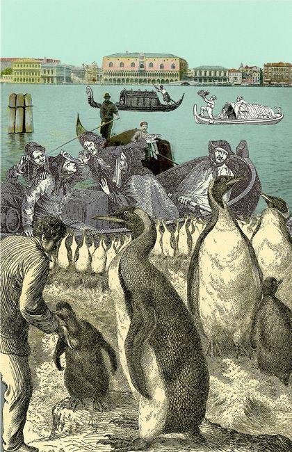 "Peter Blake - The Venice Suite - ""Penguins"""
