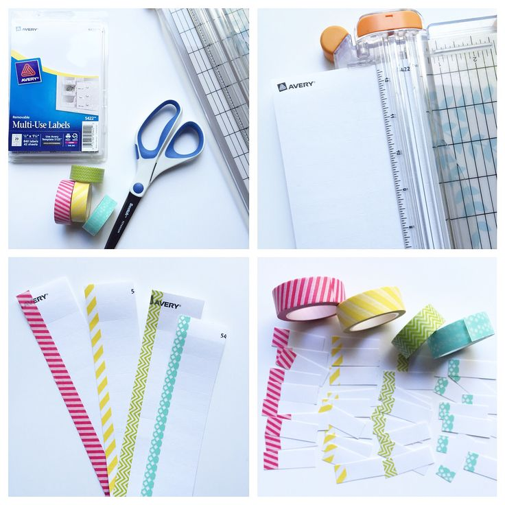 DIY Washi labels for planner or use repositionable sticker paper and have diy post its all coordinated