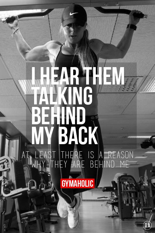 gymaaholic:  I Hear Them Talking Behind My Back. At least there is a reason why they are behind me. http://www.gymaholic.co/fitness/6-reasons-women-should-lift-weights