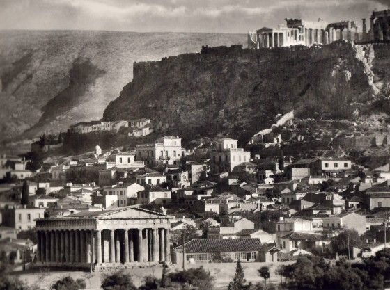 Akropolis from thiseio 1920