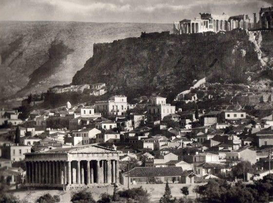 Akropolis from thiseio 1920
