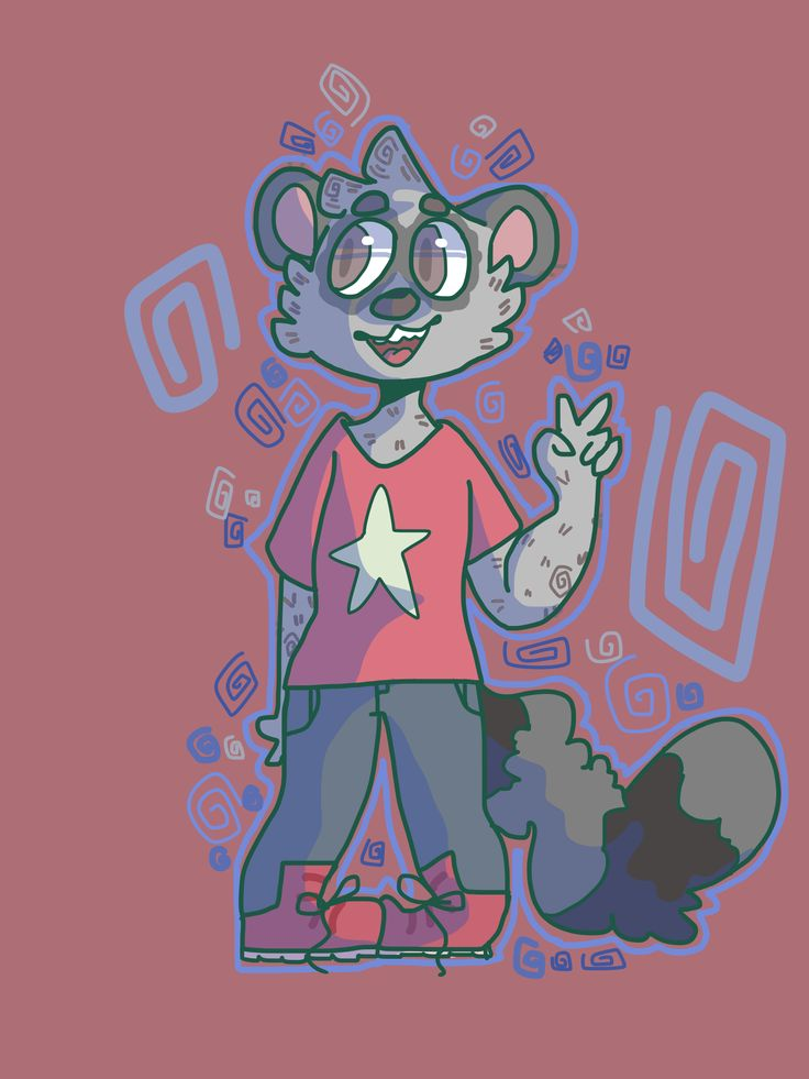 An art trade with @3sso of their cute sona ;0 heck I'm sorry this looks kinda wonky// I'll redo it if you want UwU