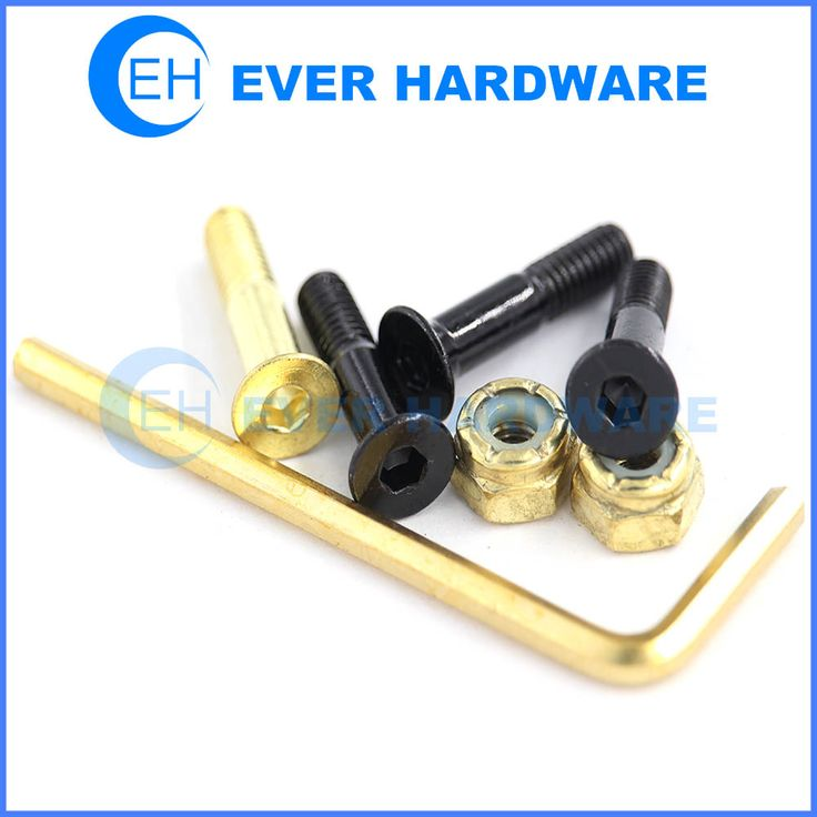 Skateboard hardware lighting bolds fasteners and accessories allen thunder bolts