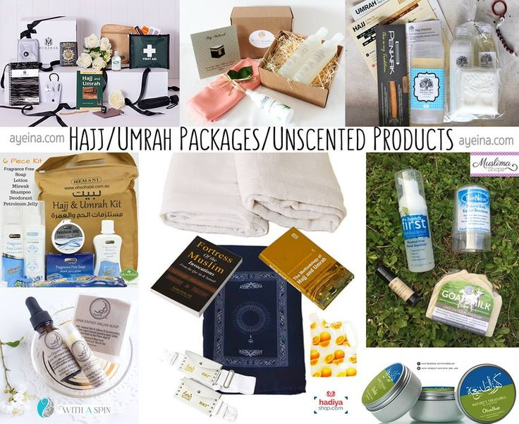hajj/umrah unscented products and packs (from muslim businesses) | AYEINA