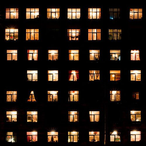 I love how behind every single window, there is a different person who has a story that we know nothing about and I sometimes forget that my life isn't the only life in the world