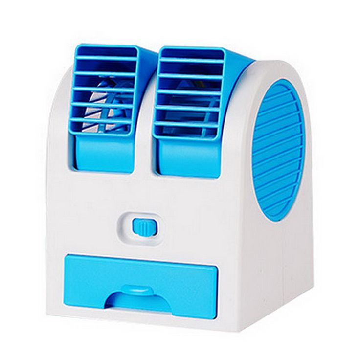 Portable USB Ultra-Quiet No Leaves Mini Air Conditioning Fan Aromatherapy Fan Ventilador ar Condicionado VHG83 T40