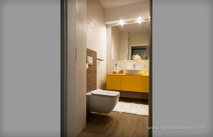 amenajare si mobilare apartament cu doua camere cluj mobilier la comanda baie mdf galben vopsit lucios