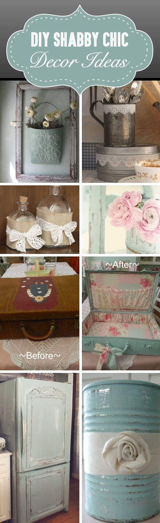 25 DIY Shabby Chic Decor Ideas For Women Who Love The Retro Style - Here you will find more than 25 different DIY shabby chic decor ideas that you can use to redefine your bedroom, your living room or your kitchen!, shabby chic bedroom