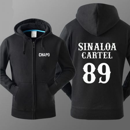 TV series El Chapo hoodie for men Sinaloa Cartel 89 sweatshirts XXXL