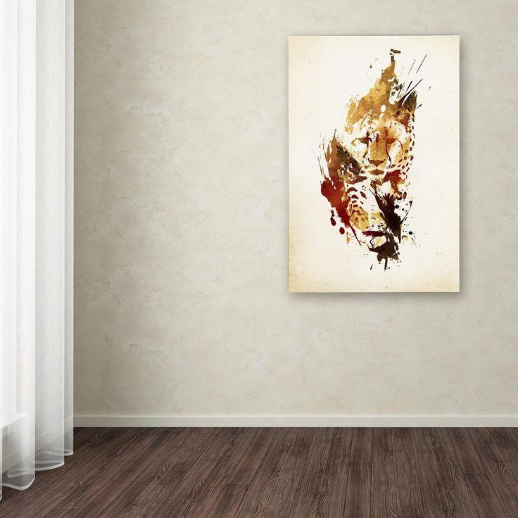"""24 in. x 16 in. """"El Guepardo"""" by Robert Farkas Printed Canvas Wall Art"""