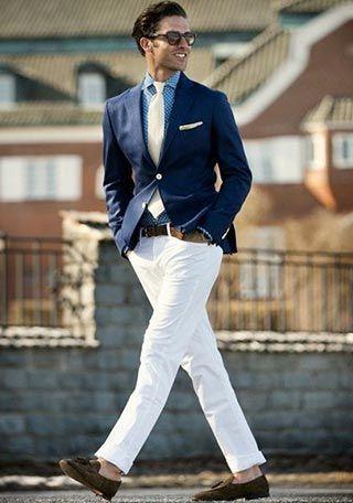 ジャケット×ホワイトパンツのコーディネート集(メンズ) | Italy Web
