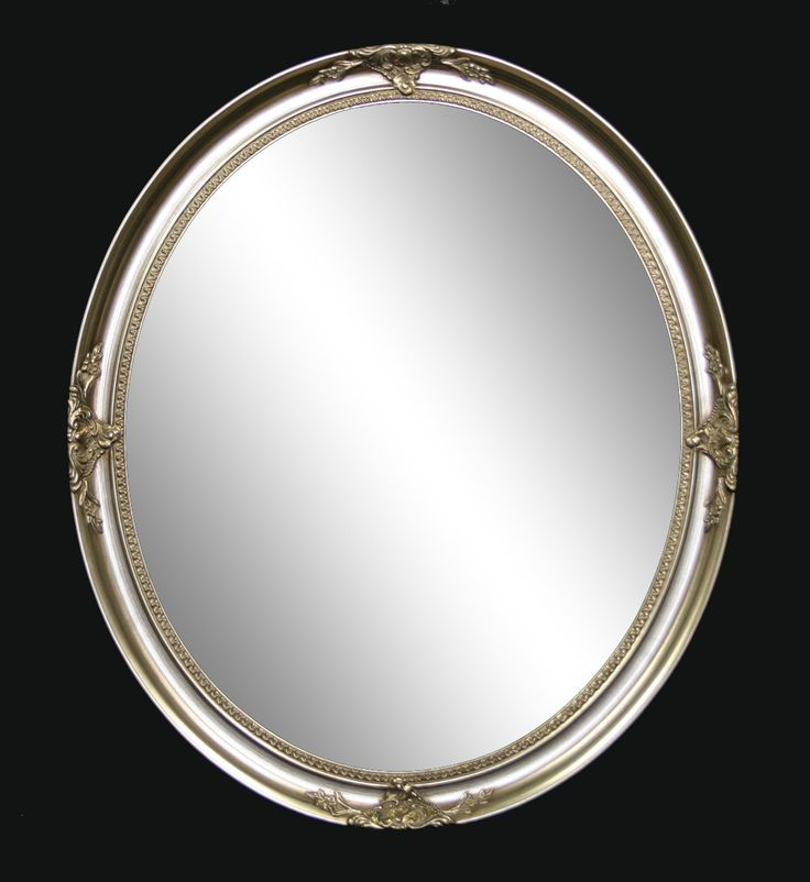 Oval Ornate Mirror Silver. Master Ensuite