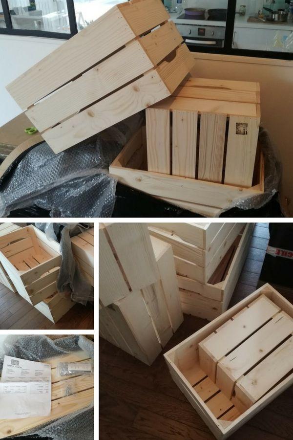 Comment Utiliser Des Caisses En Bois Pour Fabriquer Un Rangement Decoratif Modulable Dans L Entree Caisse Bois Rangement Decoratif Bois
