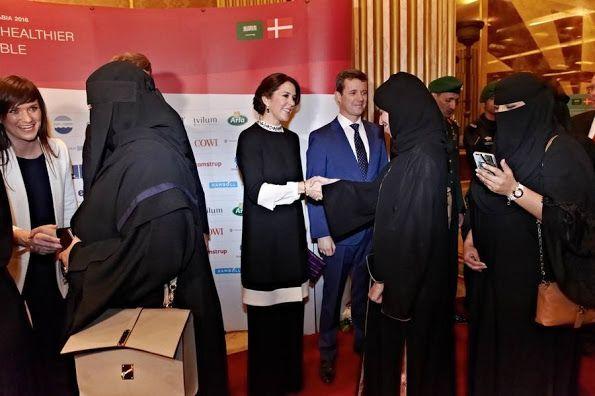 Les Cour Royales danoise: Le Couple Prince héritier assister à un dîner-réception à l'ambassade à Riyad