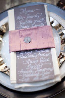 Menu, Icing Designs: Parisian wedding