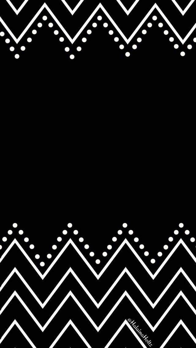 Black white chevron dots iphone wallpaper phone background lock screen