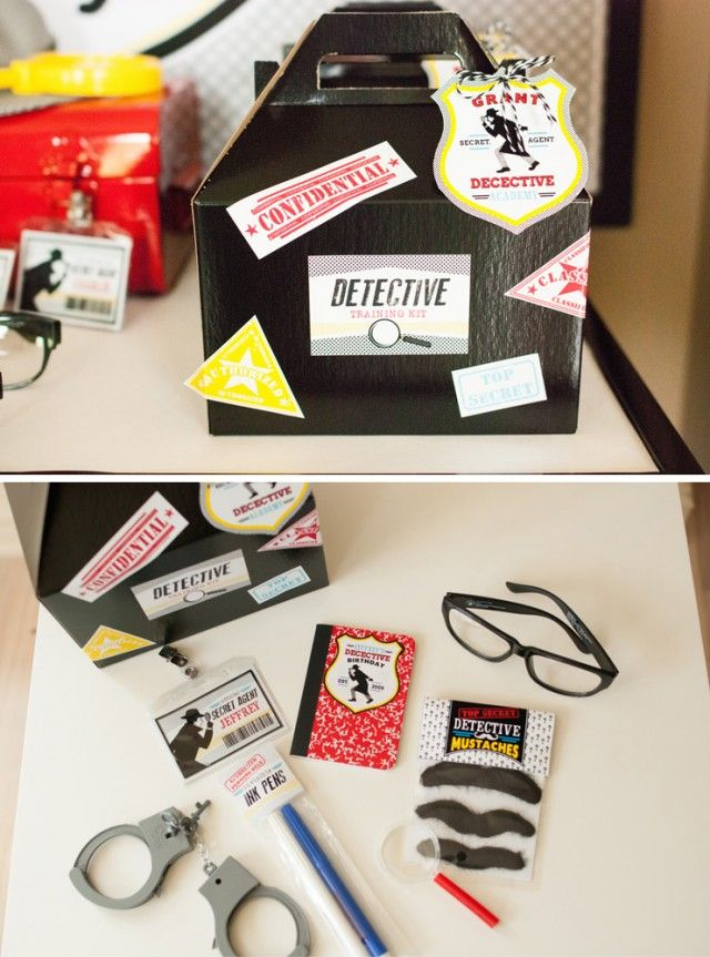 Detective Training Kits for a detective or spy party