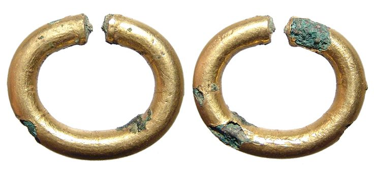 Egyptians Bronze Copper And Gold Ring Money