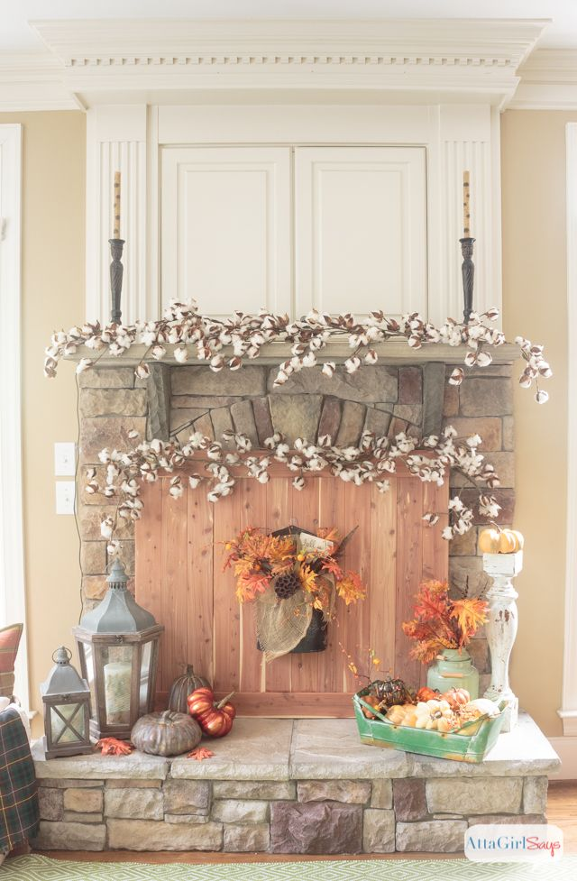 1000 ideas about fall fireplace mantel on pinterest. Black Bedroom Furniture Sets. Home Design Ideas