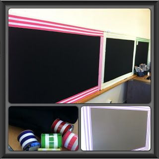 Covering bulletin boards with felt and ribbon.  A nice, clean way to do bulletin boards.