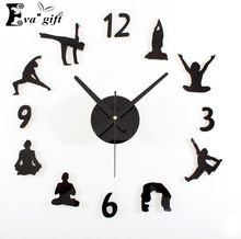 Decorative DIY Yogapose Wall Clock #yoga #homedecor #decor #decoration #decoratinsticker #wallsticker #yogapose #gift #homedesign #decorativeclock #wallclock #wallwatch #DIY