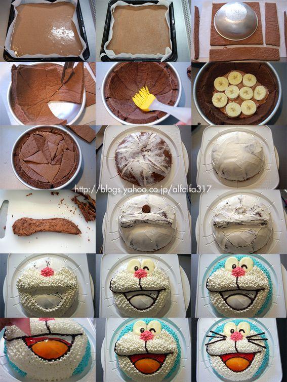 How to make DORAEMON cake