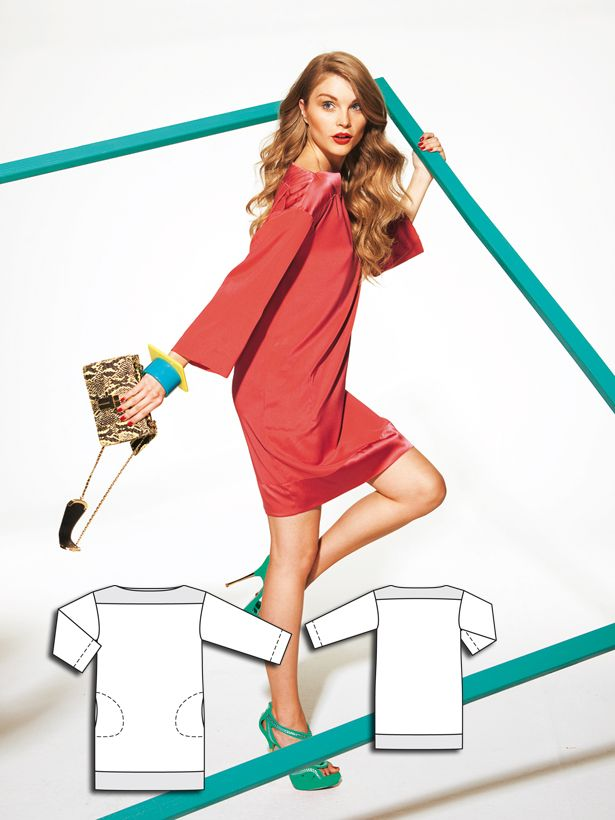 Boatneck Dress 02/2012 #burdastyle #sewingpattern #sew #sewing #diy