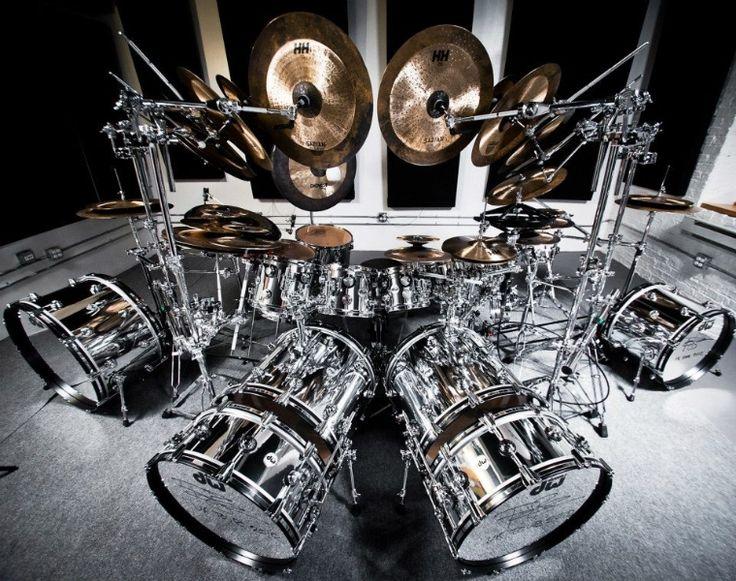"""DW Terry Bozzio """"U K """" 2012 Reunion Drumset   eBay"""