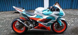 Kawasaki Ninja 250 blue Modification