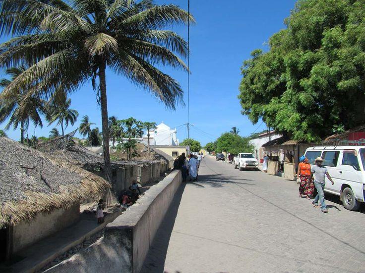 Avenida 25 de Junho is the main street of southern Mozambique Island.