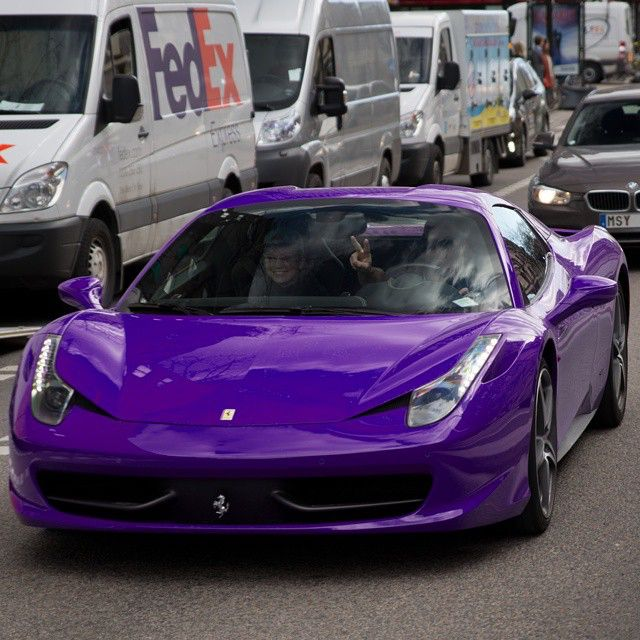 Purple Powered 458 Cars Pinterest Cars Ferrari And